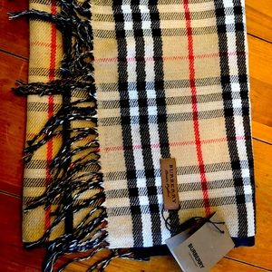 Authentic new with tags Burberry scarf